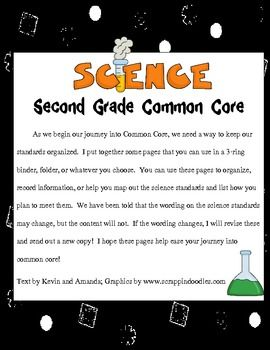 As we begin our journey into Common Core, we need a way to keep our standards organized.  I put together some pages that you can use in a 3-ring bi...: 3 Rings Bi, Science Cc, Second Grade Science, Schools Science, Standards Organizations, 3Ring, 2 50 Organizations, Common Cores, Science Standards