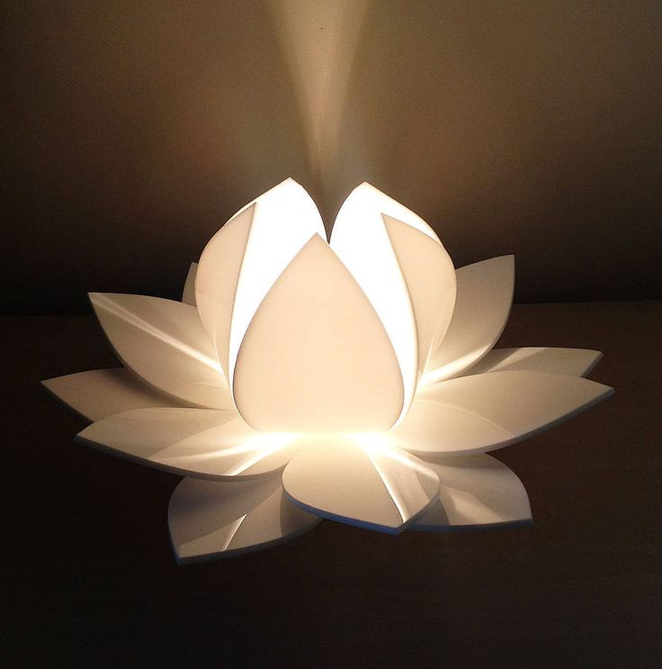 lotus flower table lamp by kirsty shaw | notonthehighstreet.com