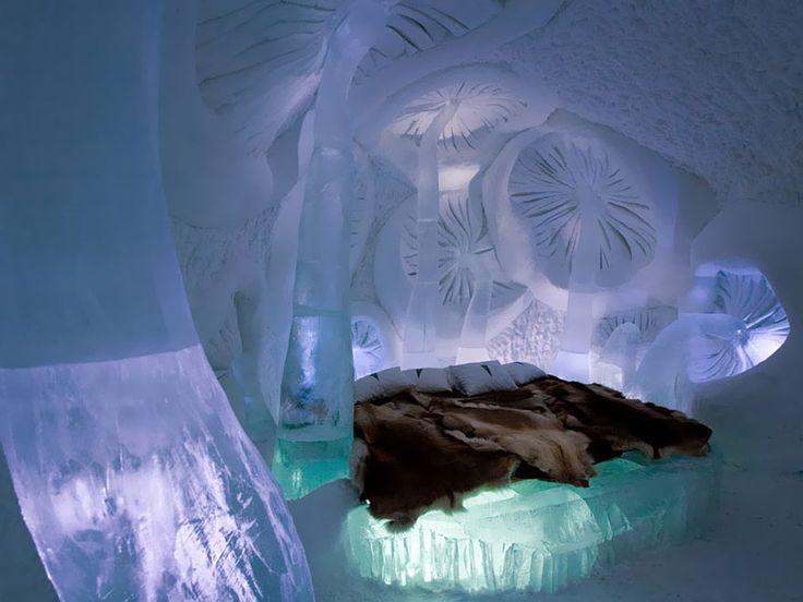 Hotel di ghiaccio, Svezia #hotel #travel #luxe
