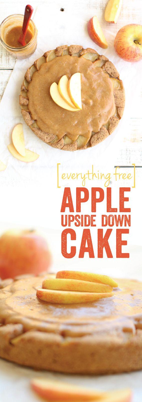 Apple Upside Down Cake #glutenfree #sugarfree #oilfree #nutfree #vegan