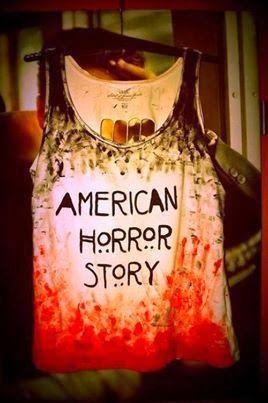 "Stylish Printed ""American Horror Story"" Shirt."