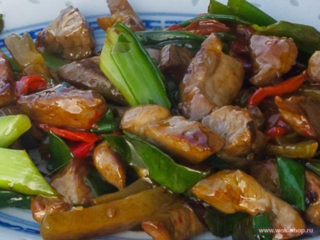 Свинина с маринованными овощами - рецепт на Российский Wok-Shop