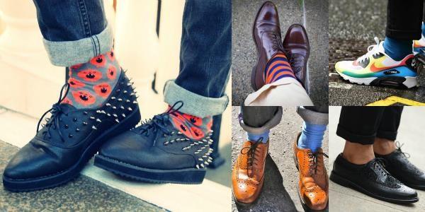 Мужские туфли с носками