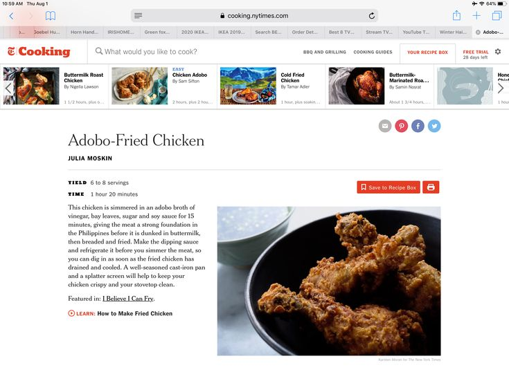 Https Cooking Nytimes Com Recipes 1014734 Adobo Fried Chicken Action Click Amp Module