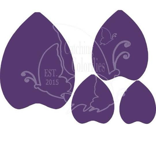 SVG large flower cutting templates SVG files by CatchingColorFlies