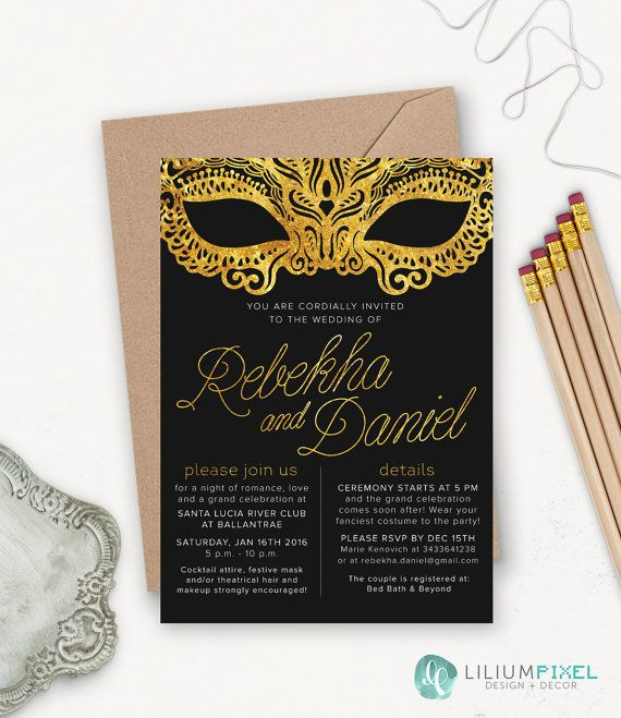 the 25+ best masquerade wedding invitations ideas on pinterest, Wedding invitations