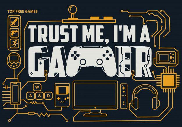 Gaming Lettering Trust Me I M A Gamer Lettering Games Gamer
