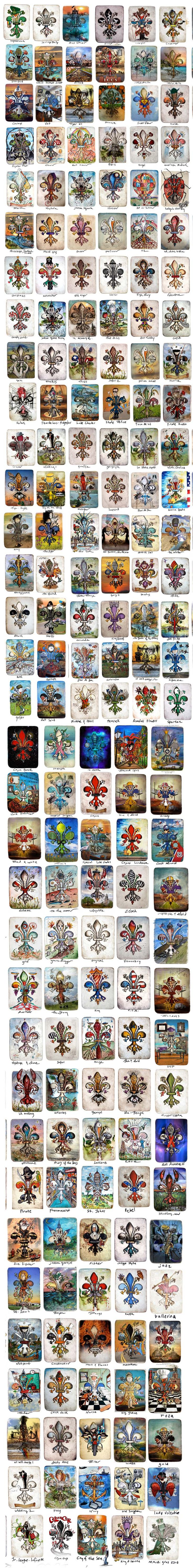 Fabulous collection of fleur de lis prints by Candice Alexander- Fleur de lis for stationeryNorm Caouette