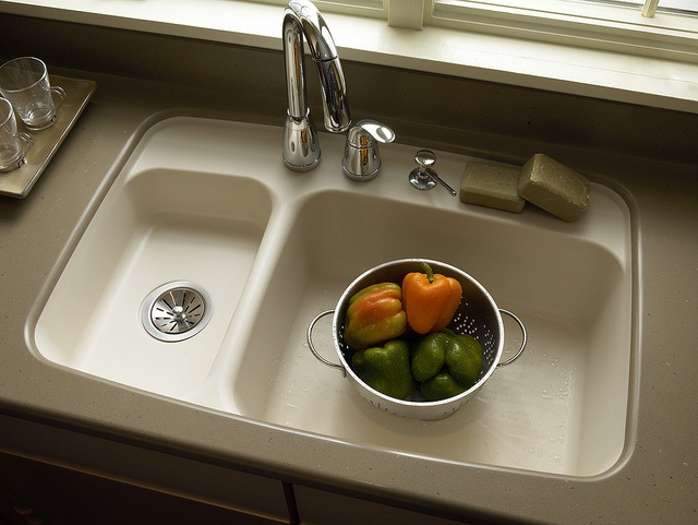 CORIAN   #872 Double Bowl Sink FREE With A Purchase Of 30 Square Feet Of  Corian Countertops. | Kitchen Sinks | Pinterest | Double Bowl Sink, Bowl  Sink And ...