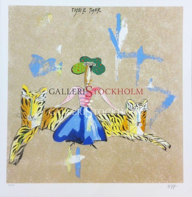Madeleine Pyk - Litografi – Änglabukten Tiger Tiger Beställ här! Klicka på bilden.