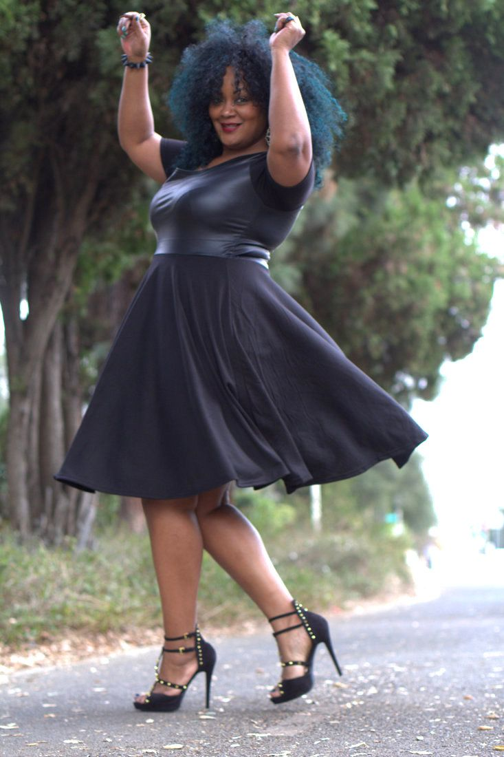 The Curvy fashionista -- My Style: Playful in my Ashley Nell Tipton Dress