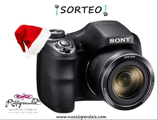 Sorteo de una cámara compacta de Sony de Rafa Penadés. Para participar sigue los pasos desde aqui: http://noosloperdais.com/2014/12/11/sorteo-camara-de-fotos-compacta-de-sony-de-rafa-penades/
