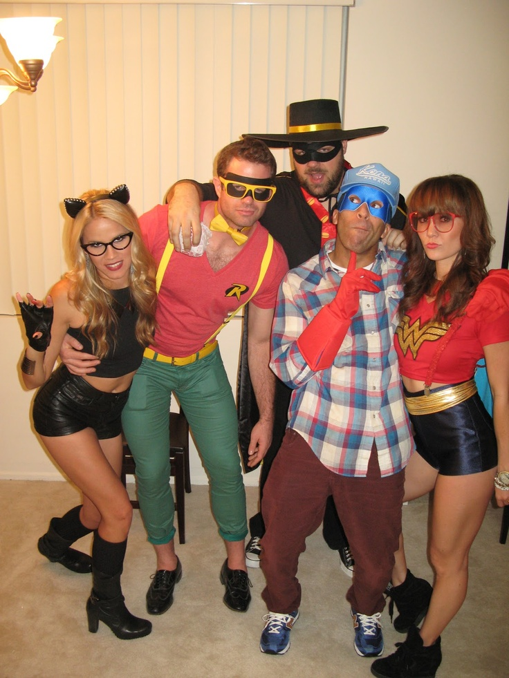 we were hipster cat woman and wonder woman trick or treat - Hipster Halloween Ideas