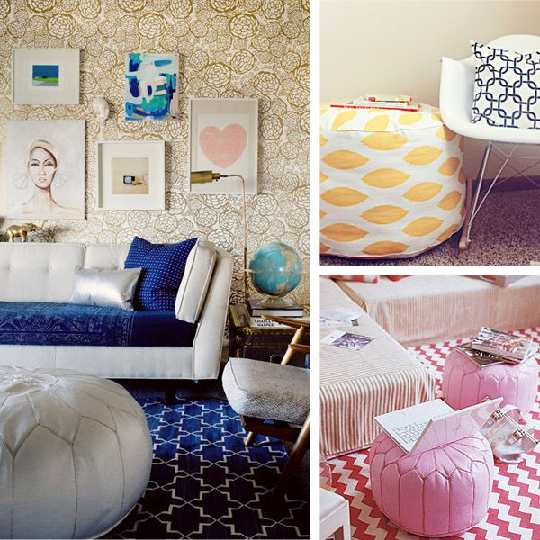 225 best Maroccan poufs images on Pinterest | Poufs, Home and ...