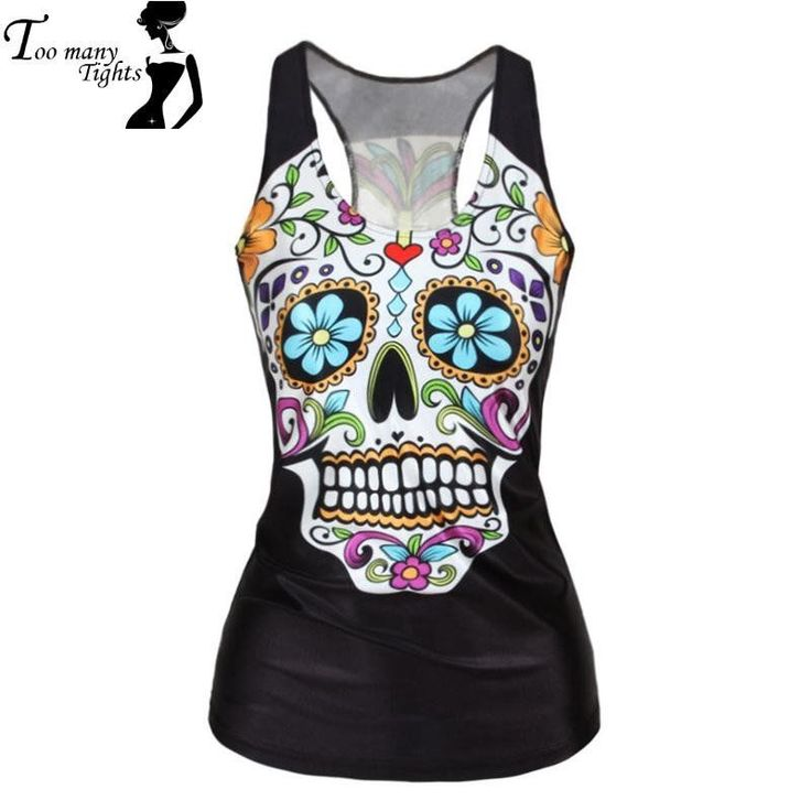 V9 women Floral sugar skull tank tops adventure time camisole HOT SALE t shirt #fashion,#instafashion,#fashionista,#fashionblogger,#fashionable,#FashionWeek,#Instyle,#DeathOrDesigner,#WomensFashion,#Dresses