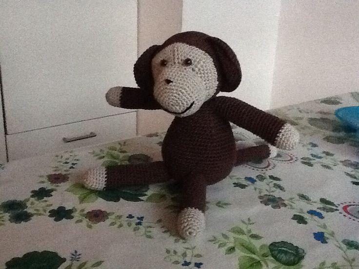 Amigurumi Dog Fur : Gehaakt aapje. Gratis patroon: http://www.haakpatronen.net ...