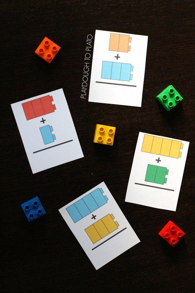 LEGO Addition Cards - Playdough To Plato