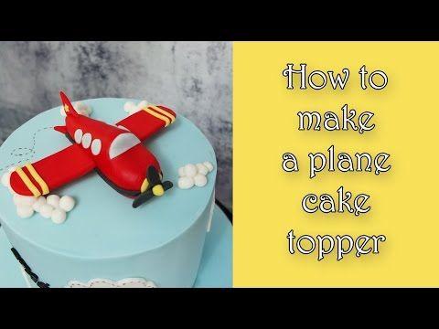 How to make a plane cake topper / Jak zrobić samolot z masy cukrowej - YouTube