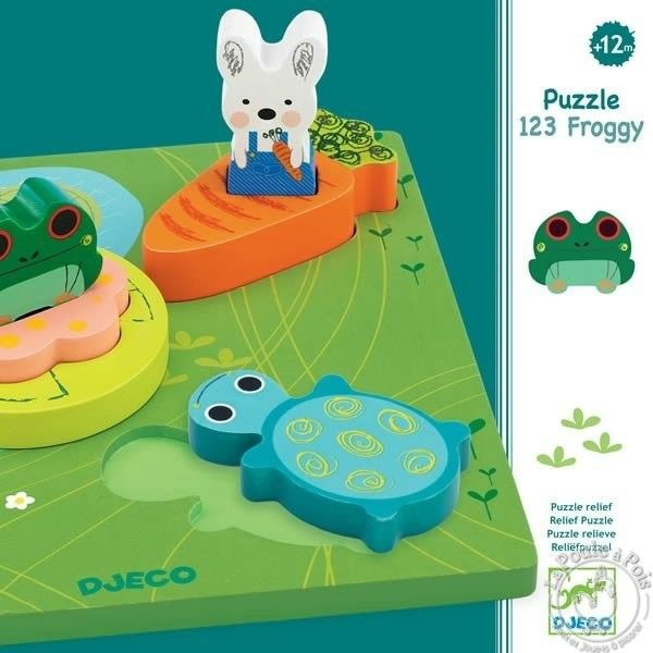 Puzzle 1,2,3 Froggy