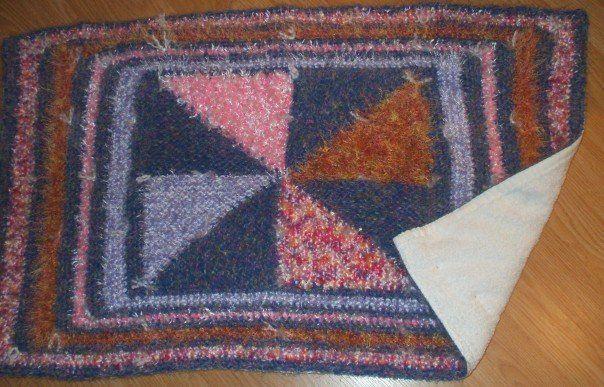 Scraps Floor Mat with Towel Backing