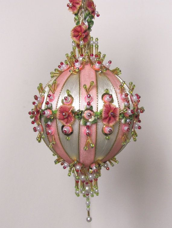 Beaded Christmas Ornament Kit Antoinette II by Glimmertree on Etsy, $32.75
