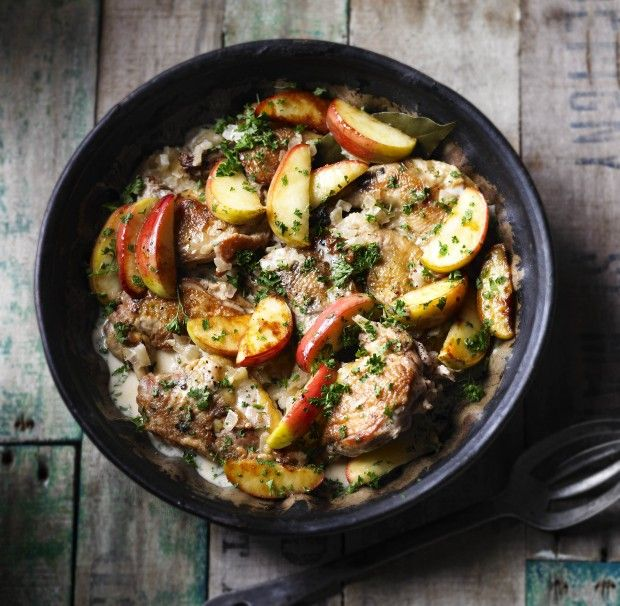 Braised pheasant with cider and apples  - countryliving.co.uk