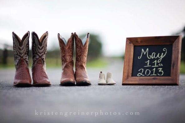Cowboy boot baby announcement.                                                                                                                                                                                 More
