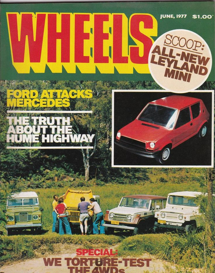 Vintage Australian Wheels Magazine June 1977 40th Birthday Idea for Him by SuesUpcyclednVintage on Etsy
