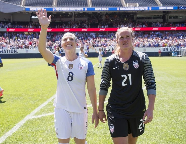 Defender Julie Johnston (left) and goalkeeper Alyssa Naeher were part of a U.S. defense that pitched a convincing shutout in the team's final pre-Olympic warm-up game, a 4-0 win vs. Costa Rica in Kansas City.