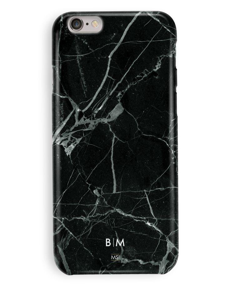 Black Marble Monogram Case
