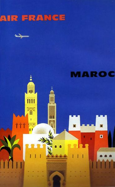 Affiche Air France Maroc #affiche