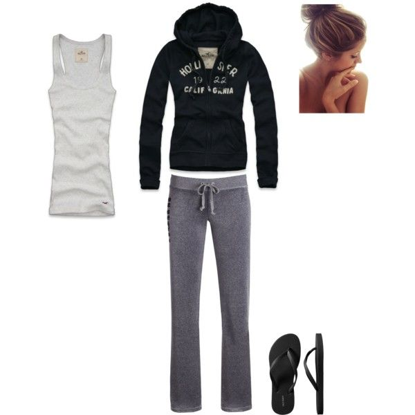 Sweatshirt, sweatpants, and flip-flops -- what more could you need to be comfortableFashion, Saturday Style, Summer Style, Style At Home, Style Today, Imaginary Closets, My Style