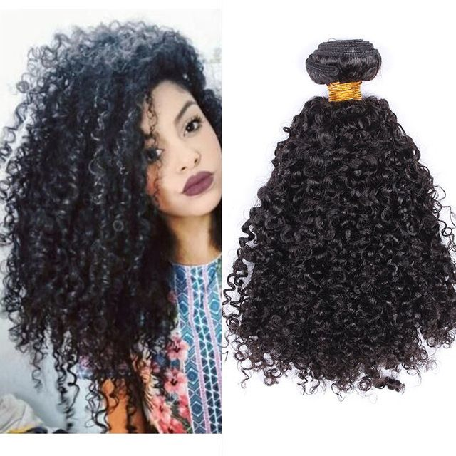 Deep Wave Brazilian Virgin Hair 3B 3C Kinky Curly Virgin Brazilian Hair Weave Bundles Human Hair Extensions Rosa Hair Products
