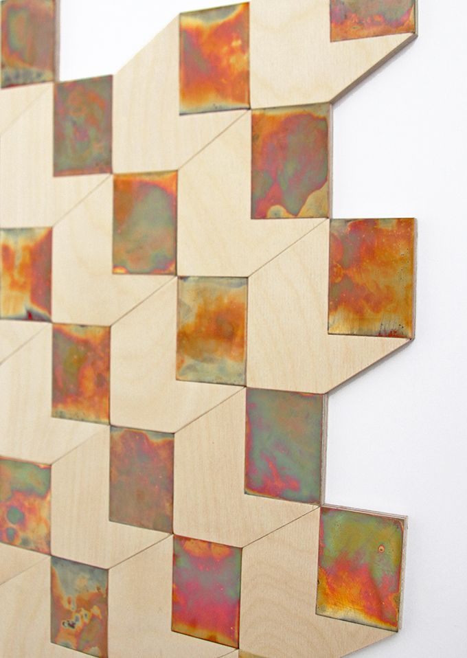 Amy Bartlett, Surface Design, Leeds College of Art - we noticed Amy's work because of her subtle use of colour and materials, we think the tiles would be fantastic in a commercial setting