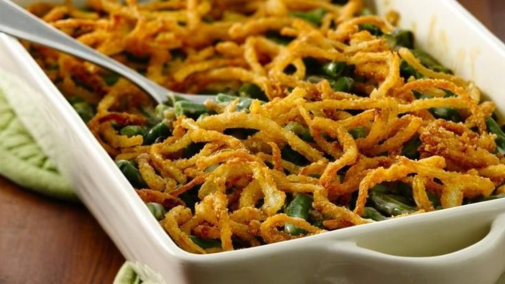 Yes, dive right back into green bean casserole--fried onions and all! With the magic of our gluten free baking mix, you can make your own fried onions!
