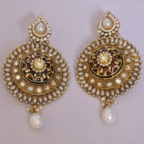 Pearls Kundan Earrings