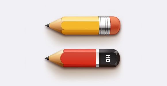 PSD Freebie: Pencils free PSD
