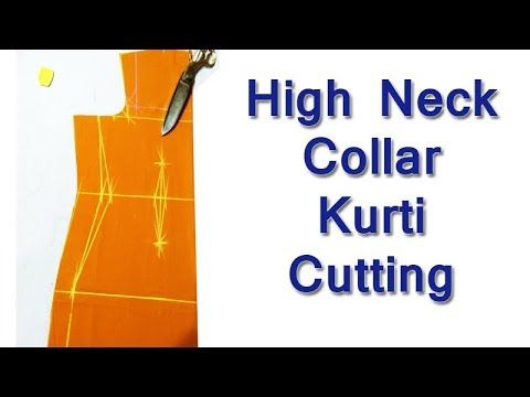 High Neck Collar Kurti / Kameez cutting with Useful Tips | New Kriti Bou...