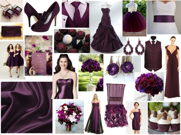 """""""Aubergine/Eggplant Wedding Inspirations"""" by highglosswed on Polyvore"""