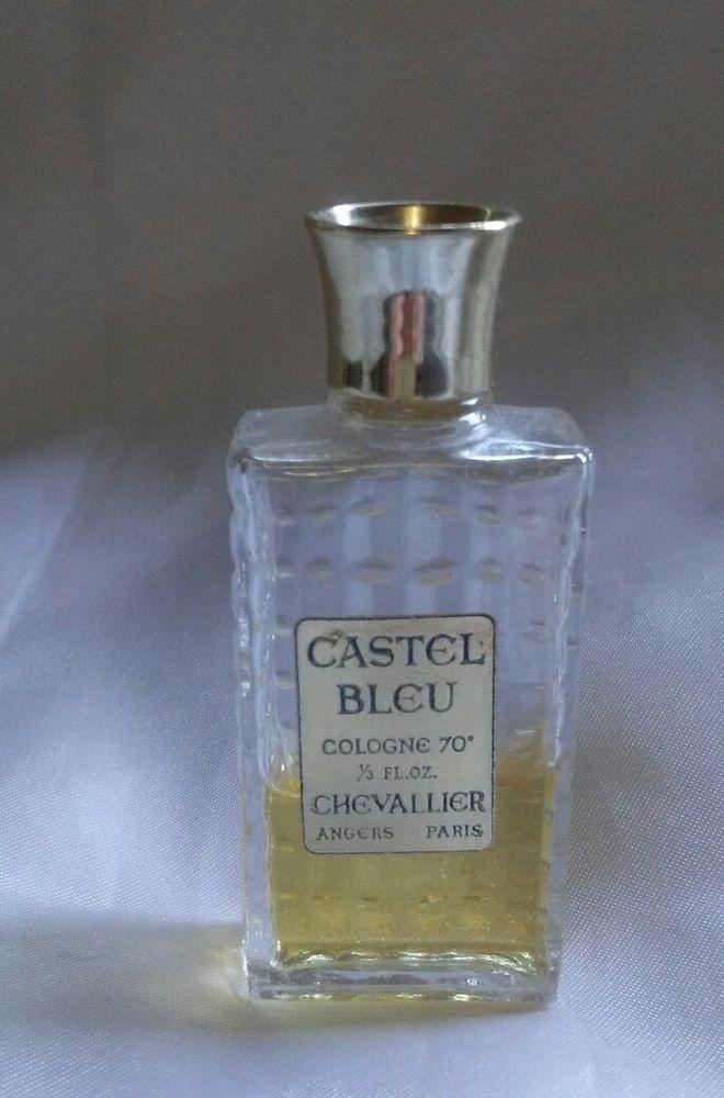 Vintage Miniature Chevallier Castel Bleu Cologne Bottle 1 3 Oz Cologne Bottle Perfume Bottles Vintage Miniatures