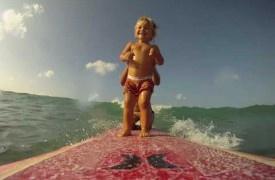 Mama Baba surfing Waikiki