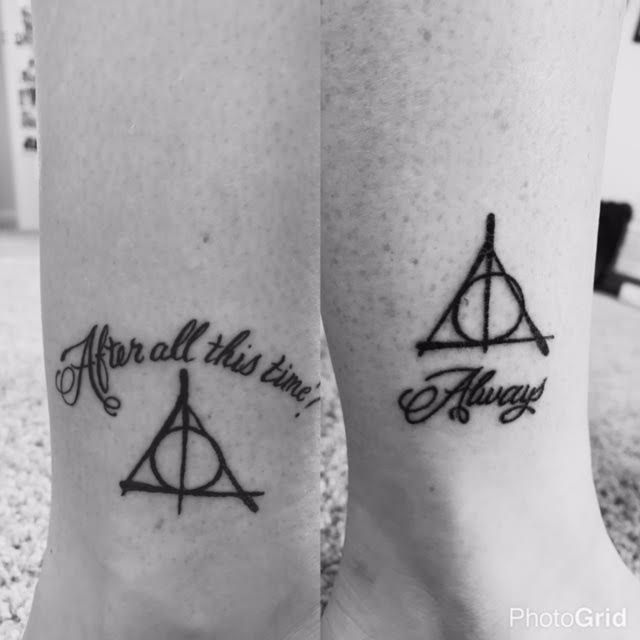 Sister and I LOVE harry potter and this quote is our favorite. Siter's is on the left mine is on the right. #Nerd