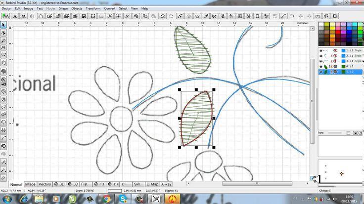 como fazer matriz de bordado no programa embird