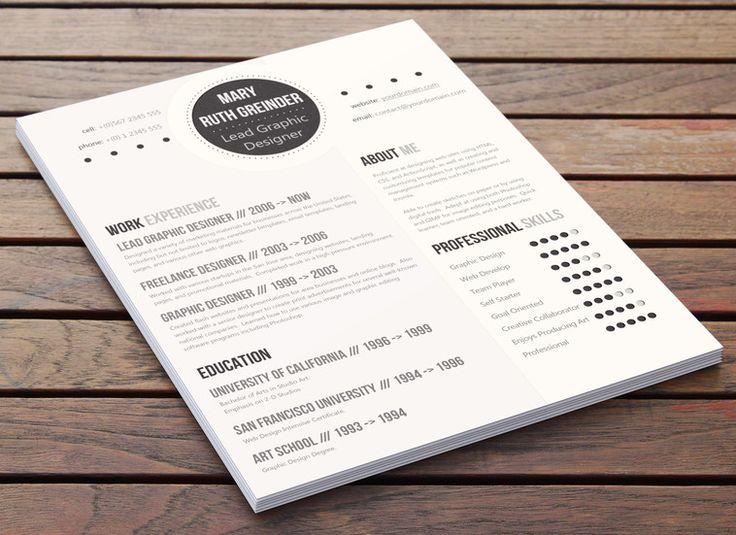 8 best Modern Resume Designs images on Pinterest Resume design