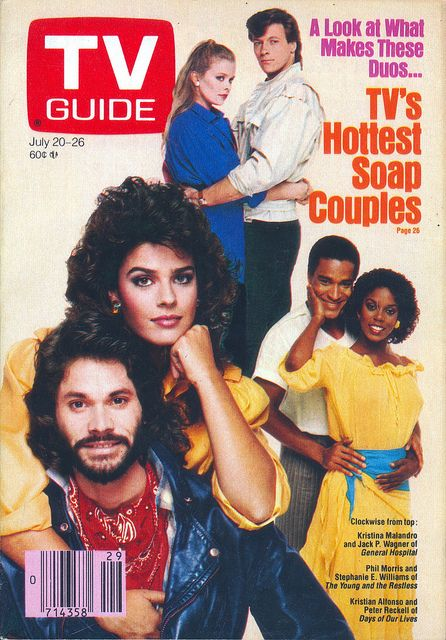 TV's Hottest Soap couples in 1985 (from TV Guide- July 20, 1985)