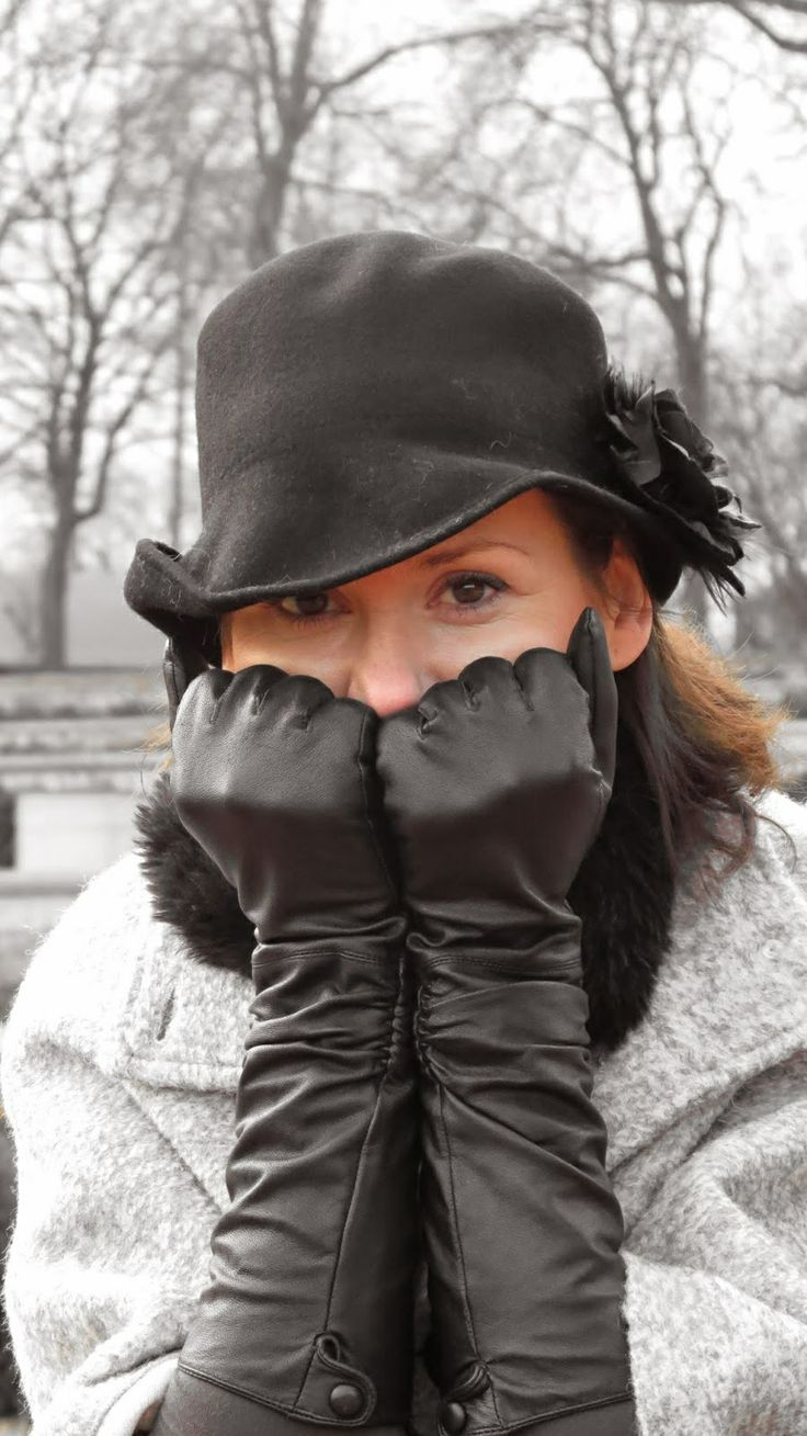 Long leather gloves fall winter fashion Leather Glove
