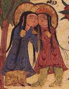 Seljuk Persian painting of Vakra and Gulshah