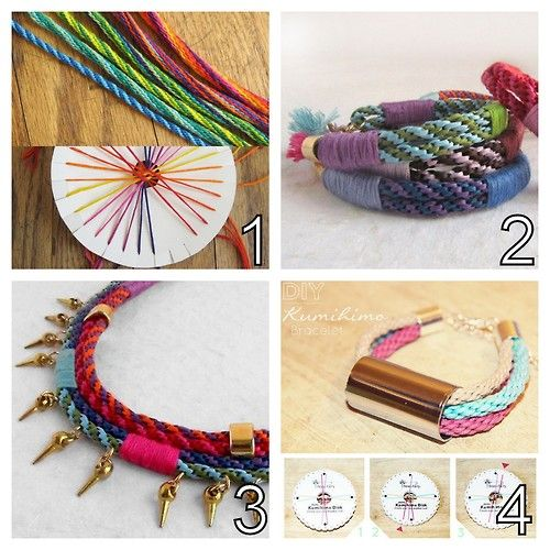 DIY Handmade Kumihimo Braided Tutorials