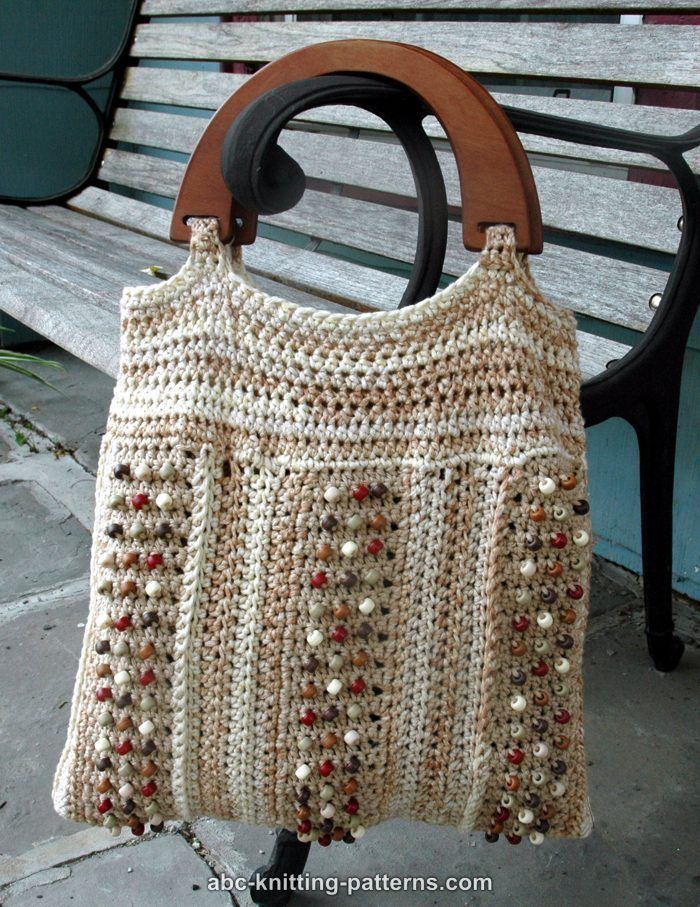 ABC Knitting Patterns - Birds and Beads Summer Tote