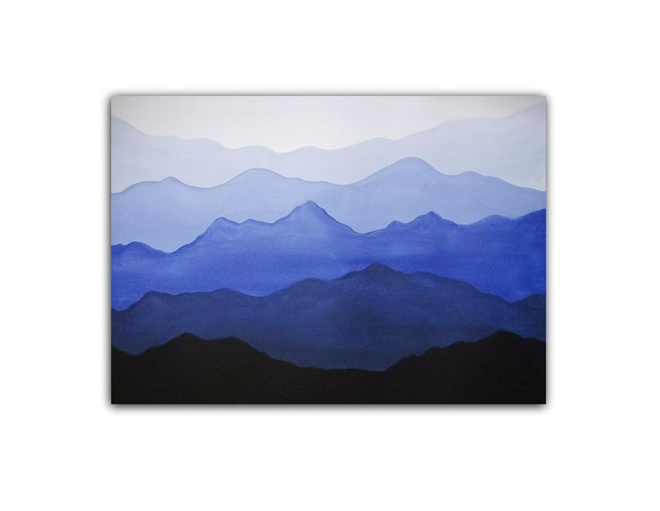 Easy Acrylic Painting - Misty Mountains Video Available: https://youtu.be/dnRFuxRI5Gw  #AcrylicPainting